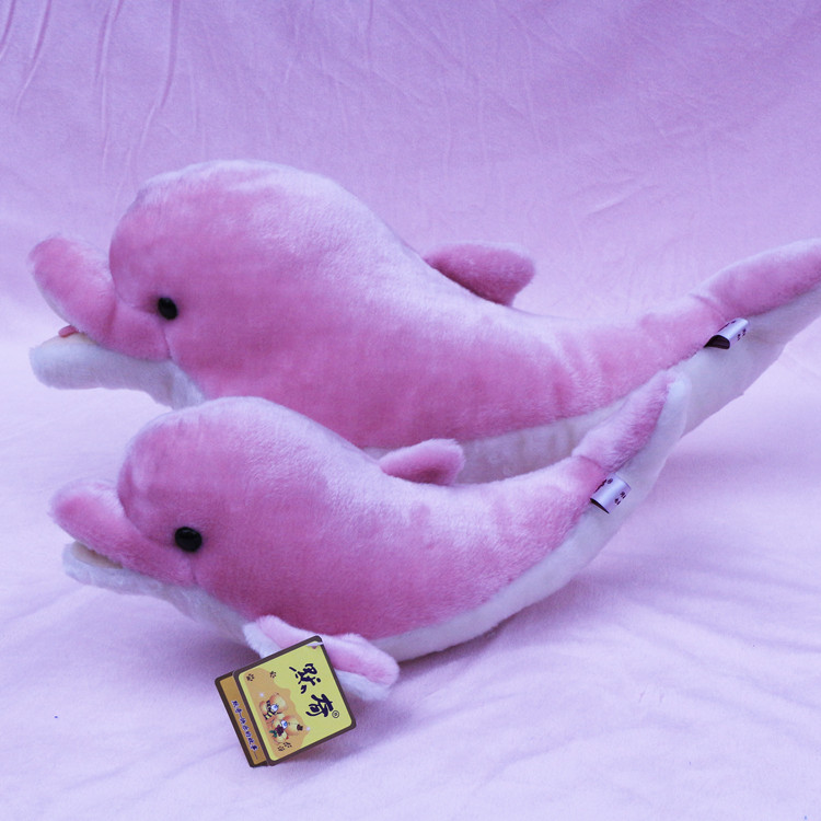 ФОТО lovelyhigh quality plush dolphin toy new pink dolphin doll gift about 60cm