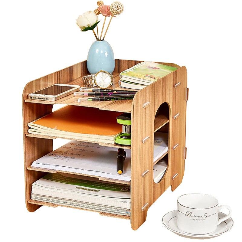 Bureau bureau fichier cadre créatif enregistreur boîte en bois Multi couche étagère Mobile enregistreur tiroir organisateur