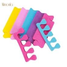 100pcs/pack Mix Color Nail Art Finger Toe Separators For Manicure Care Tools Soft Foam Sponge Splitter Tips