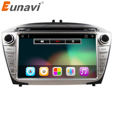 "Eunavi 8"" Quad Core 1024*600 2 Din Android 6.0 Car DVD For Hyunda Ix35 Tucson 2011-2012 Radio Rds Video Player GPS Navigation"