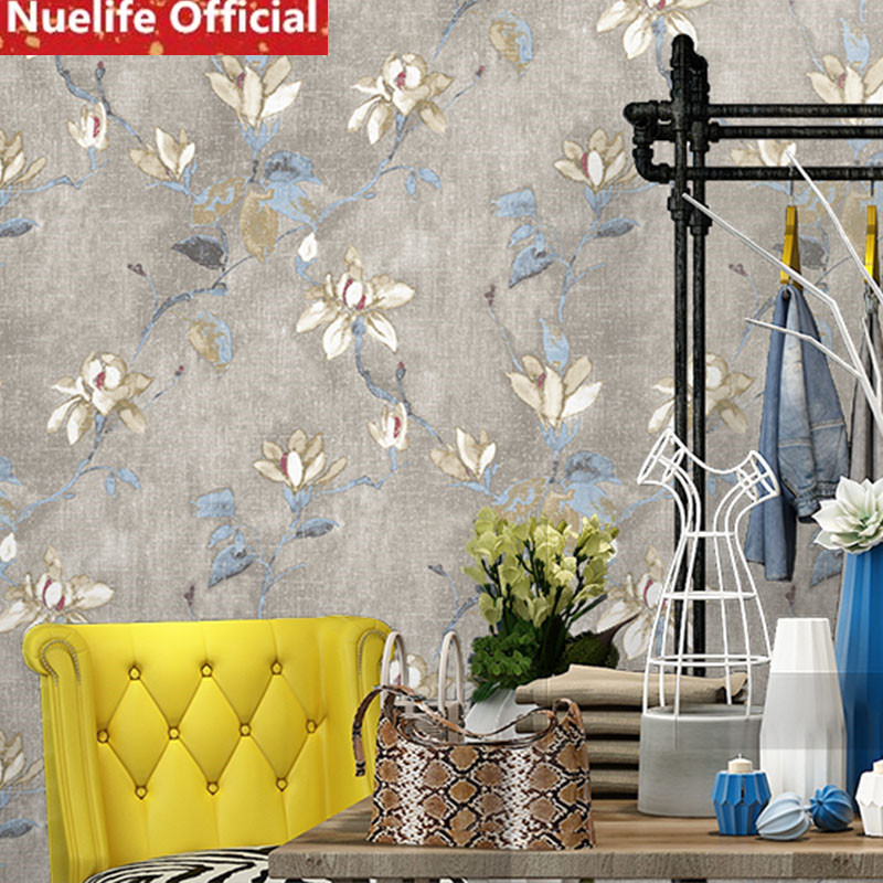 American Country Garden Small Floral Non-woven Wallpaper Wedding Room Bedroom Living Room Clothing Store Background Wallpaper