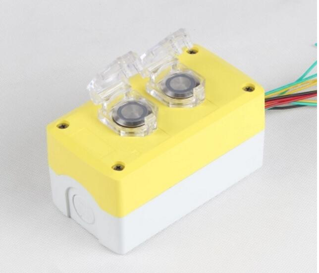 22MM two button box metal switch power start self complex switch LED220V light start stop цена