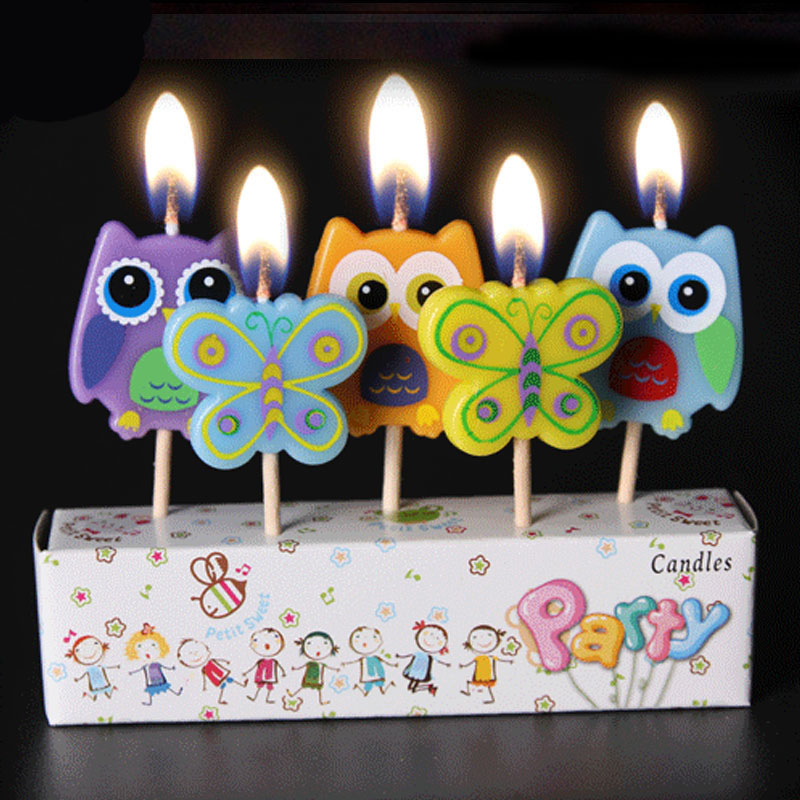 5pcs Cute Colorful Butterfly Owl Chicken Princess theme kids girls