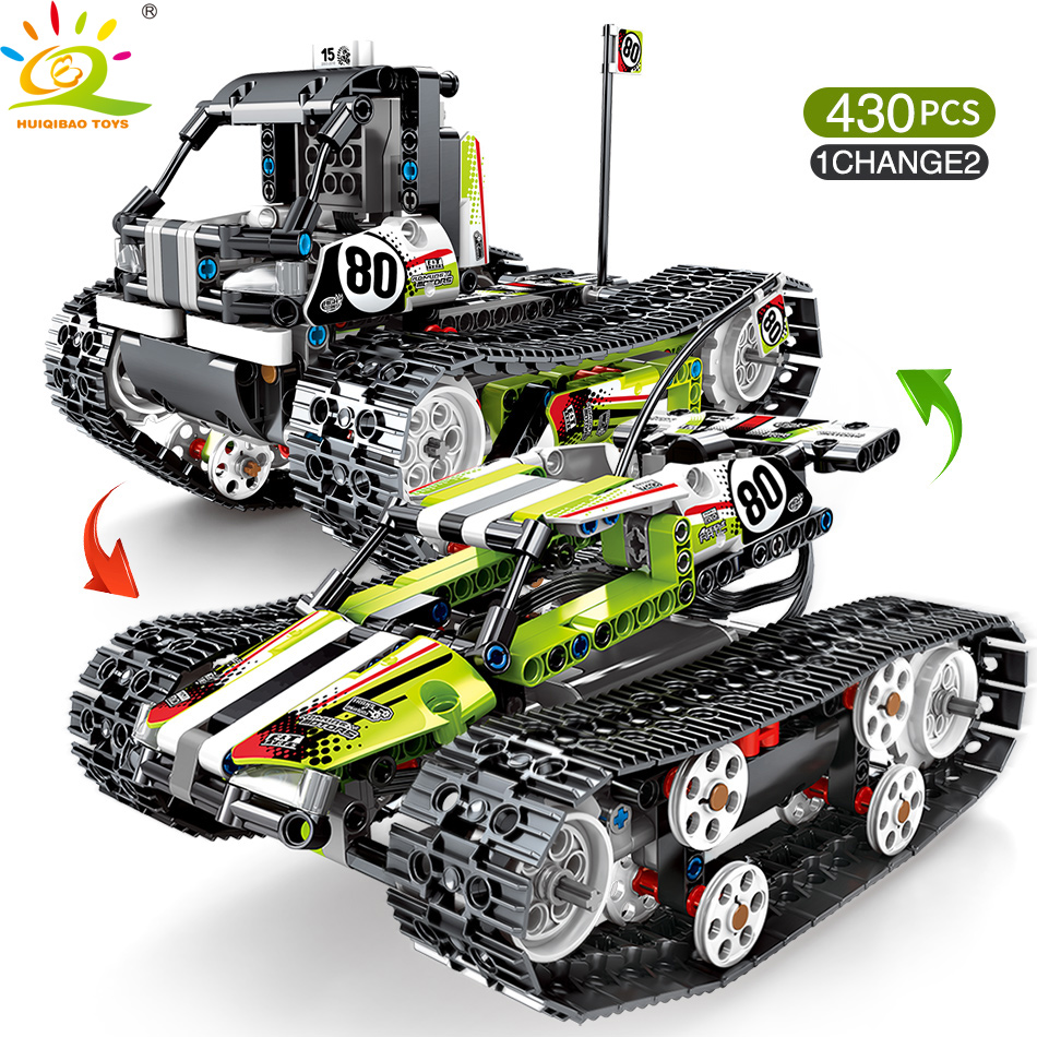 430pcs Remote control off road track motor Vehicle Building Blocks Technic RC Car Enlighten Bricks Toys for Children-in Blocks from Toys & Hobbies    2