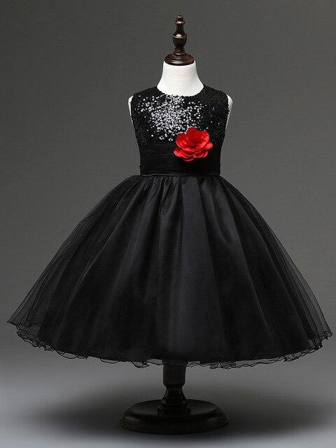 3b2e02ae96509 الأزياء 2 سنوات إلى حجم 8 ملابس حفلات للأطفال خليط الأحمر الفيروز البحرية  الأسود زهرة فتاة