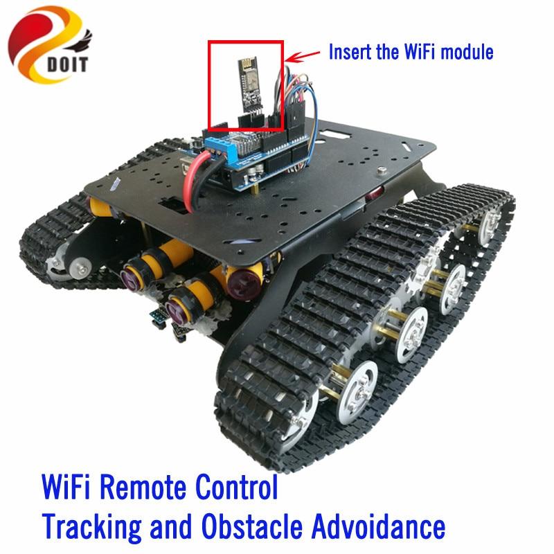 DOIT TSD300 Sterowanie Bluetooth / WiFi Crawler Tank Car Vehicle ze - Zabawki zdalnie sterowane - Zdjęcie 1