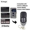 LiftMaster Merik artisan 315mhz télécommande 371LM 372LM 373LM 374LM porte de Garage télécommande remplacement Télécommande pour porte     -