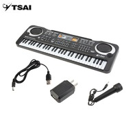 TSAI 6104 Children Electric Piano 61 Keys Music Electronic Keyboard Kid Electric Piano Organ Perfect Birthday Gift US Plug Type