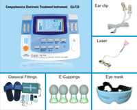 EA VF29new tens ems muscle stimulator multifunction infrared tens machines physiotherapy equipment with laser ultrasonic therapy