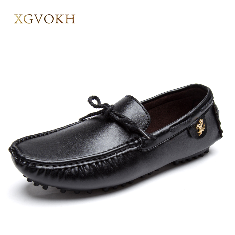 XGVOKH Men Casual Shoes PU Leather Handmade Flats Slip On Loafers superstar Man Driver Moccasins Shoes dxkzmcm new men flats cow genuine leather slip on casual shoes men loafers moccasins sapatos men oxfords