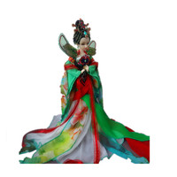 Ancient Chinese Dolls Chinese Myth Peacock Fairy Girls Doll Collectible Toys For Girls Plastic Handmade Joint