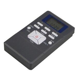 Image 4 - JINSERTA Portable Mini Radio Frequency Modulation Digital LED Display Radio Receiver Signal Processing +Earphone+Lanyard