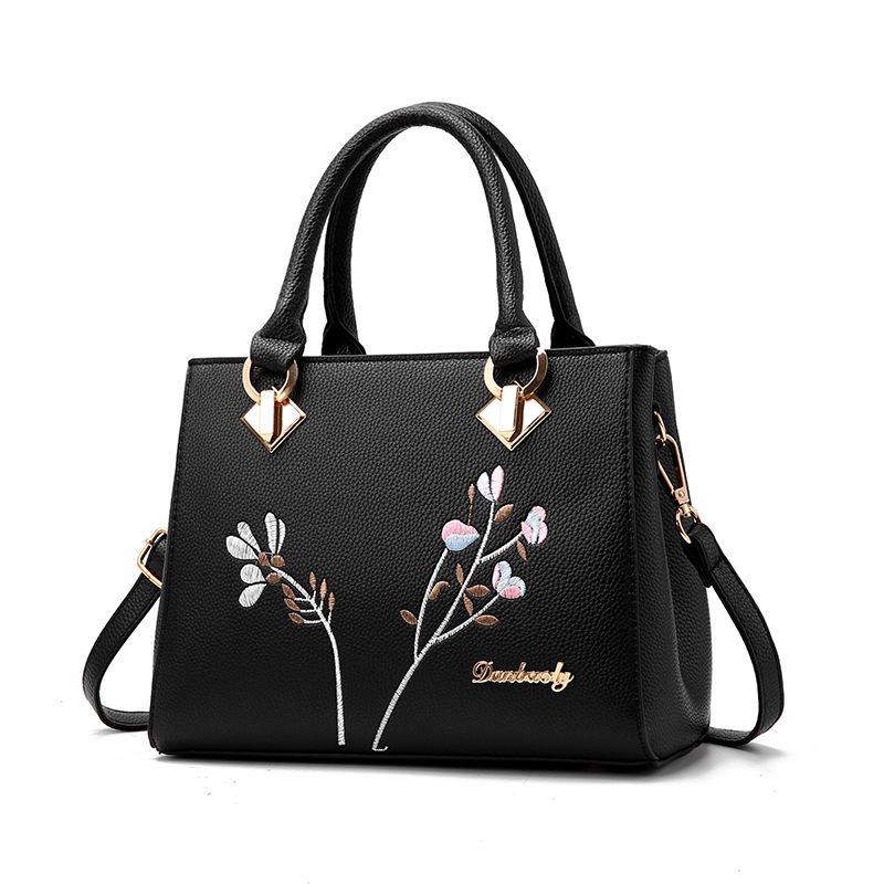 longmiao National Floral Women Messenger Bags Lady Designer PU Leather Embroidery Flowers Crossbody Shouler Bags Sac a Main 3
