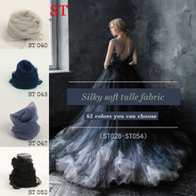 3m/lot nylon Soft tulle fabric designer super transparent wedding mesh bridal veil material white black skin net