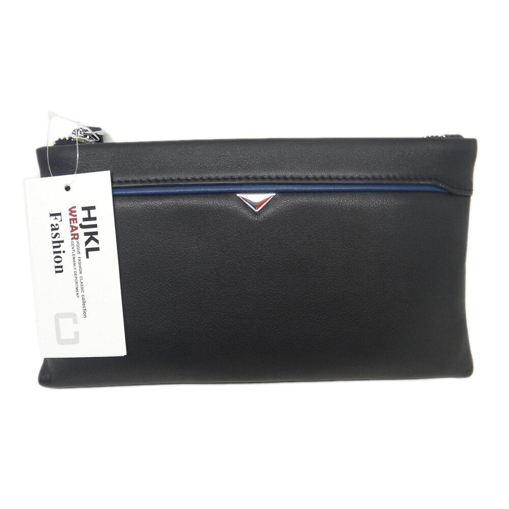HJKL الأزياء جلد بو للرجال زيبر مخلب محافظ رجال الأعمال حقيبة يد-في محافظ من حقائب وأمتعة على  مجموعة 1