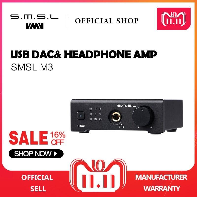 SMSL M3 USB DAC AMP Multi-fonction Optique Coaxial Casque Amplificateur Portable Alimenté Par USB Audio Décodeur Portable DAC Convertisseur
