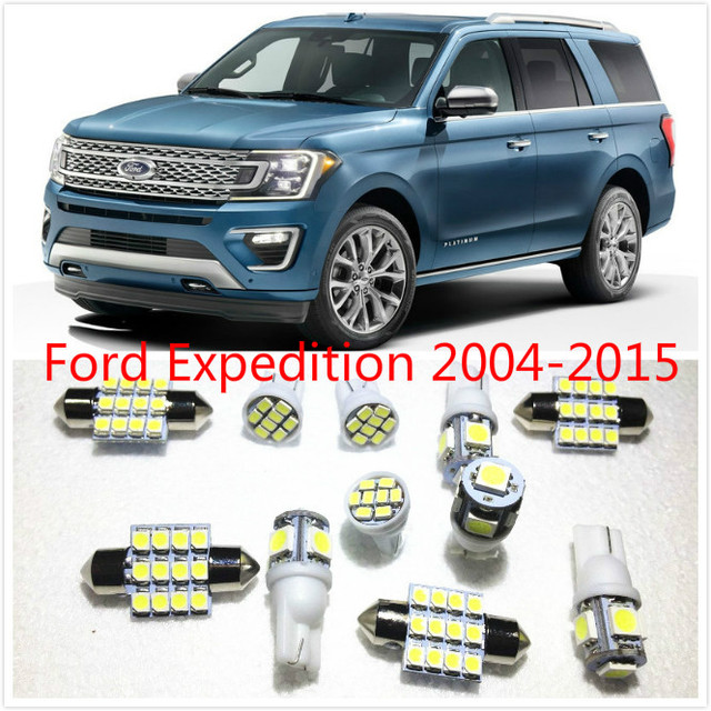 11 Set White Led Lights Interior Package 10 31mm Map Dome For Ford Expedition Escape Explorer Sport Trac 2004 2016