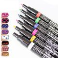 UV Gel Design 3D Paint Nail Art Pen 24 Color Nail Polish False tips Drawing Pick 5 Nail Art Pen Painting Design Tool Drawing Gel