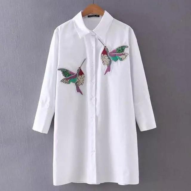 Рубашка с народной вышивкой