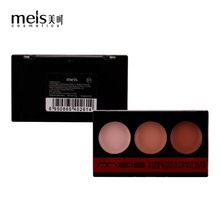 MEIS Brand Makeup Cosmetics Professional Makeup 3 Colors Conealer Contour Paletter Contouring Makeup Face Soft smile MS0309-C
