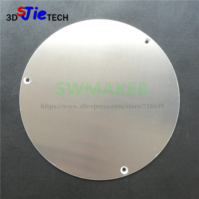 Kind-Hearted Kossel 3d Printer Circular 210mm Round Hot Bed Aluminum Plate Delta Hot Bed Support Plate Use With Heating Film Upgrade 3d Printer Parts & Accessories