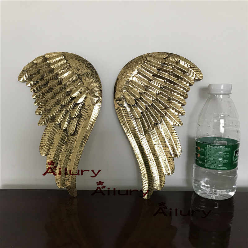 30%off,2pcs.29*13cm Golden old iron angel wings pendant,christmas decoration pendant,Xmas hanging decor