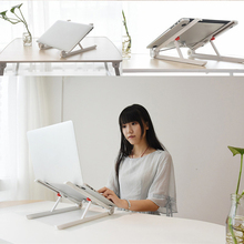 Портативный Регулируемый складной стол для портативного компьютера ноутбука Подставка держатель натуральный теплоотвод крепления нейлон