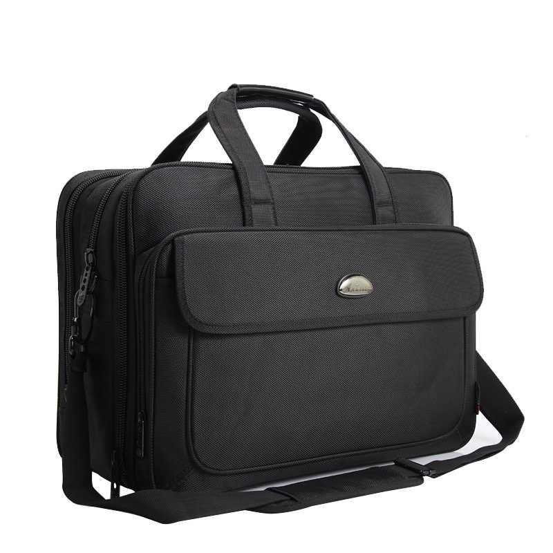 57ac2a5216fb 17 дюймов Сумка для ноутбука многослойная плотная ткань оксфорд портфель  Lcapacity водостойкая переносная сумка через плечо