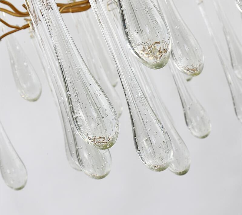 Lámpara de cristal francés candelabro de sala LED decoración de ramas de árbol candelabro hotel restaurante luces - 5