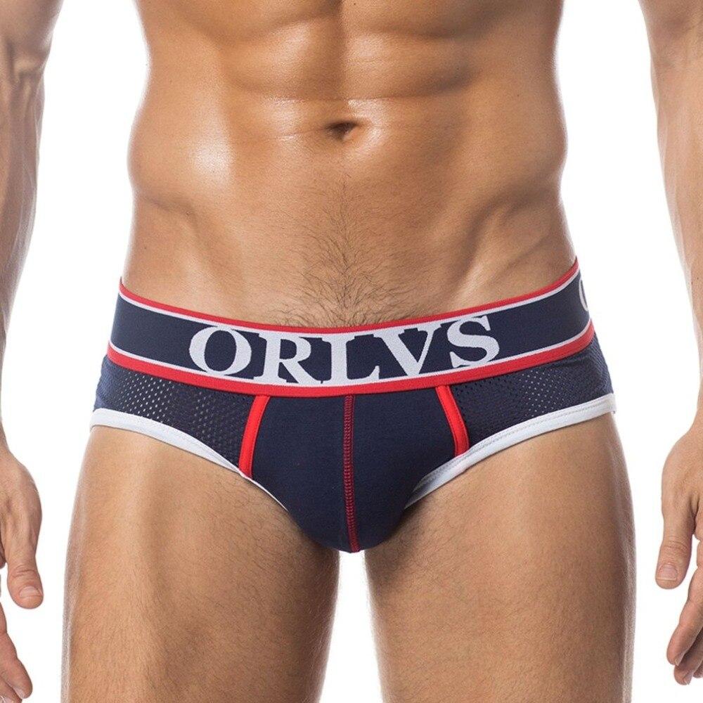 Buy Mesh Low Waist Mens Underwear U Convex Pouch Briefs Sexy Underpants Male Slips Cueca Breathable Panties Briefs Lingerie 2018 New