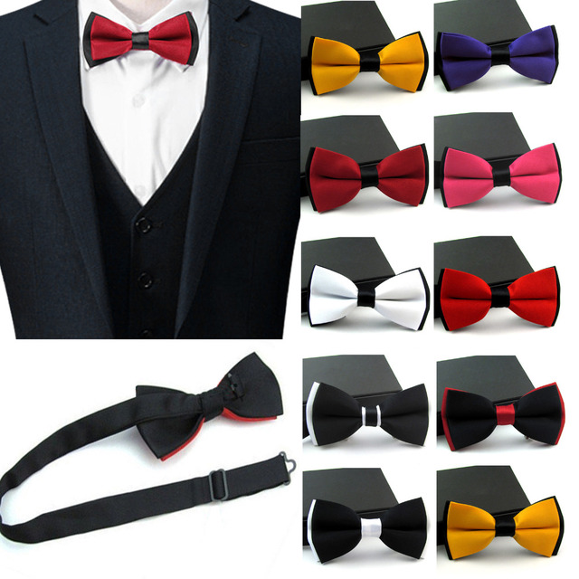 bfdbcf559ec1a New Satin For Mens Pre Tied Wedding Party Fancy Plain Necktie tie Bow Ties  Boy business Butterfly Formal Solid Color PSJ0145