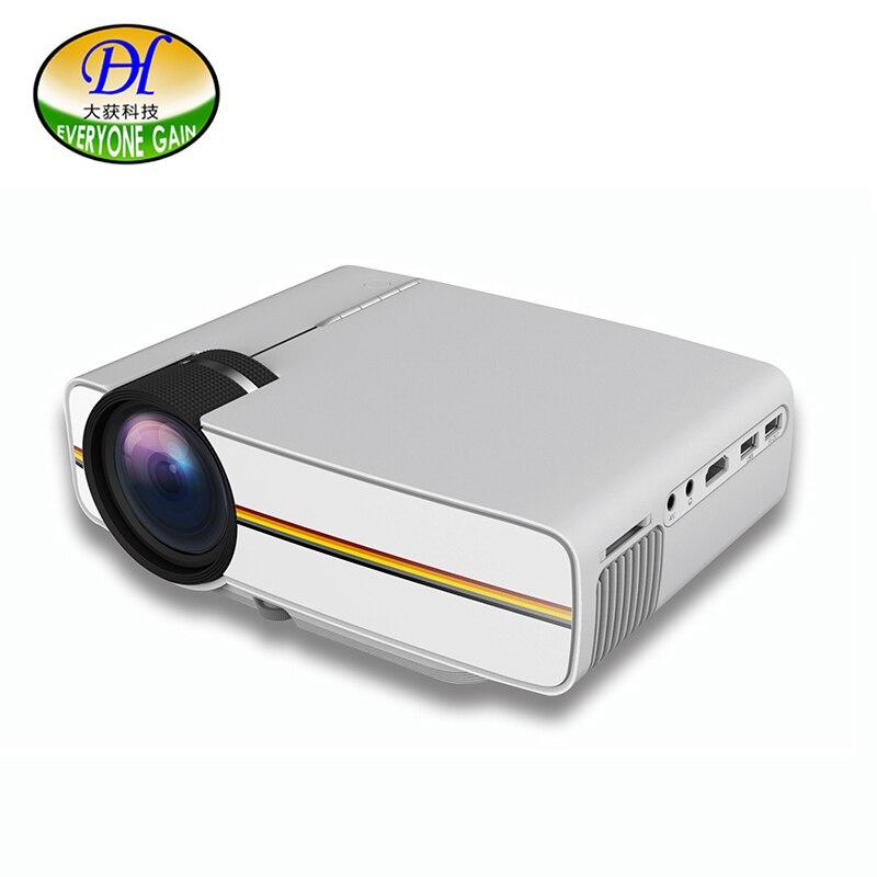 Everyone Gain 1200 Lumens LED LCD Mini Projector <font><b>Mobile</b></font> <font><b>Phone</b></font> with Projector Handy Beamer YG400 Projector USB LED Projection