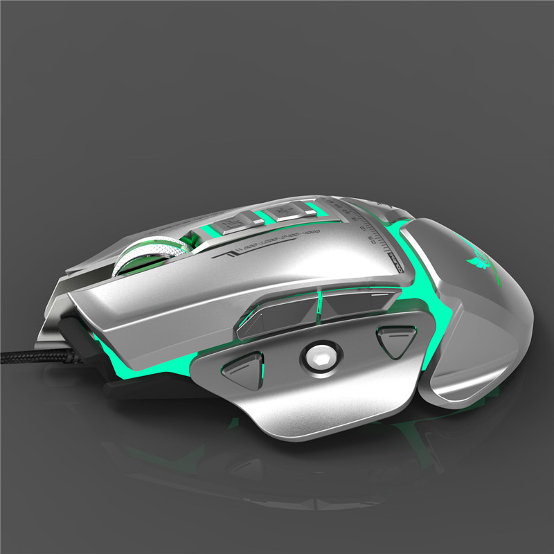 US $20 28 29% OFF|Aliexpress com : Buy ZERODATE X400GY 11 Programmable keys  USB Wired Optical Mouse Mechanical Macros Define Game Mouse Gamer For PC
