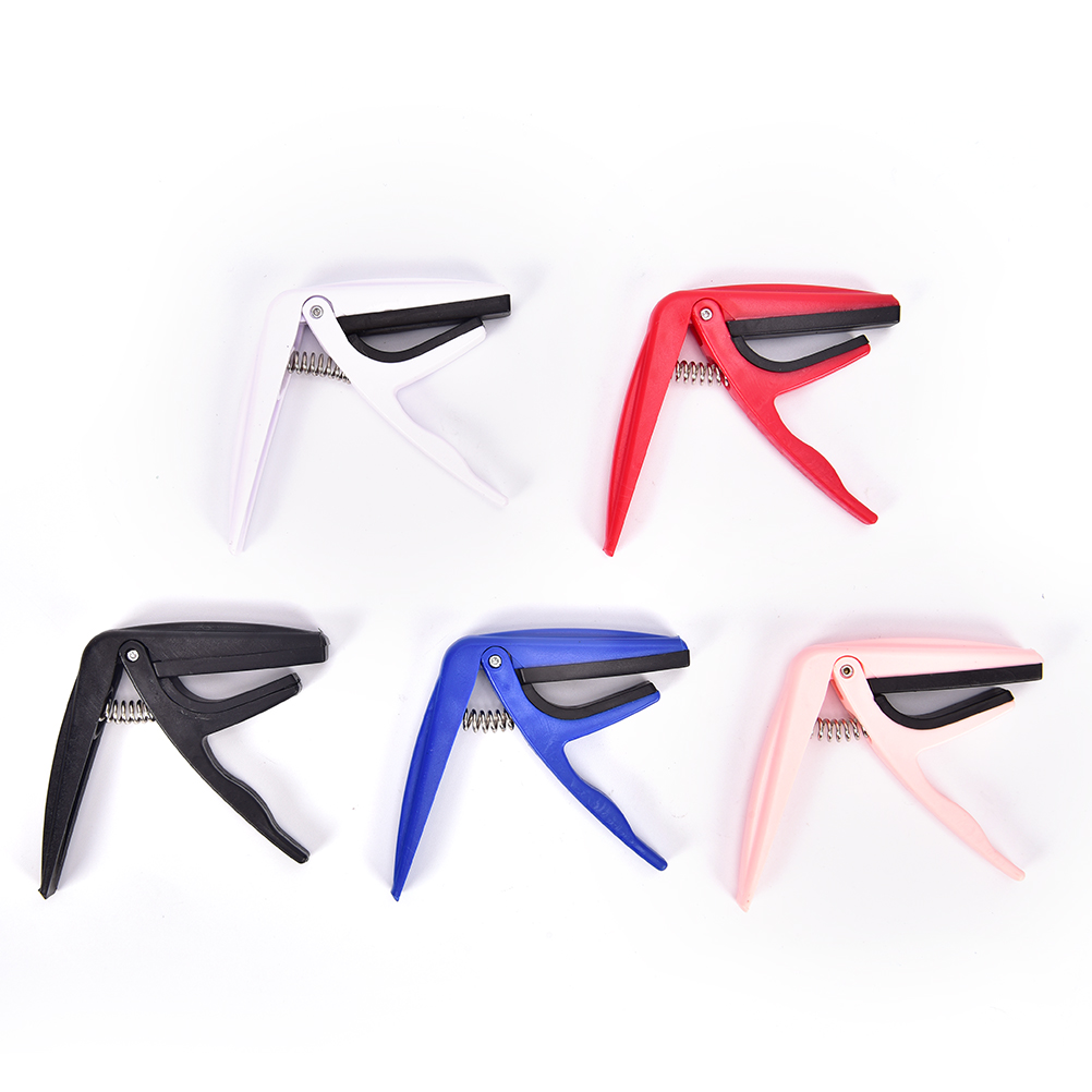 Guitar Accessories Plastic Guitar Tuner Clamp Professional Key Trigger Capo For Acoustic Electric Musical Instruments