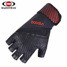 2019 Men Half Hinger Weightlifting Gloves Fitness Equipment Training Gloves Dumbbell Barbell Fitness Gloves Black White Red M~XL цены