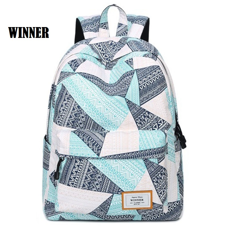 Printing Backpack Women Laptop Bagpack Casual Bookbag School Bags for Teenage Girls Fresh Backbag Mochila Escolar Female Rugzak runningtiger women backpack eiffel tower printing backpack casual school bags for teenage girls travel backpack female mochila