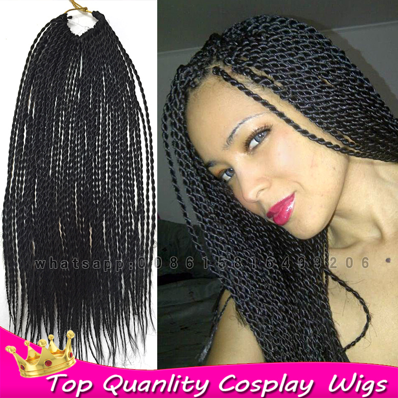 18 crochet senegalese twist braiding hair extensions synthetic 18 crochet senegalese twist braiding hair extensions synthetic afro kinky twist hair for black women 100kanekalon braids fiber on aliexpress alibaba pmusecretfo Images