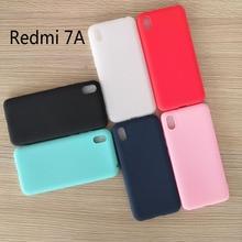 "Candy color Case For Xiaomi Redmi 7A Matte Cover Redmi 7 A Silicone TPU Soft Back Cover Xiaomi Redmi 7A Case 5.45"""