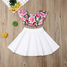 Kids Baby Girl Ruffles Floral Clothes Sets 2-6Yrs