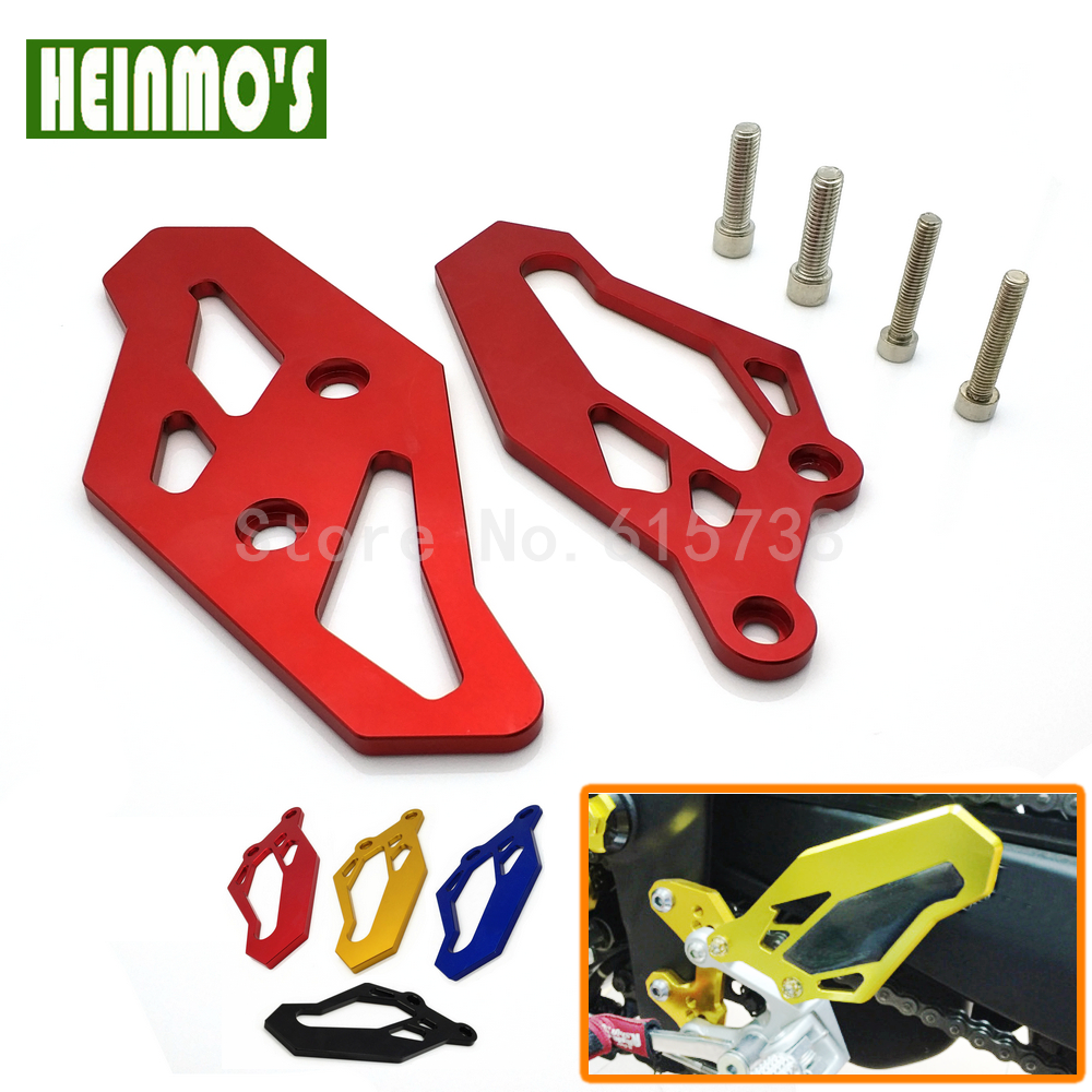 Motorcycle Red CNC Footrest Rear set Foot Peg Plate Guard for Yamaha R3 2015-2017 R3 ABS 2017 R25 2013-2017 MT03 MT25 2015-2016 morais r the hundred foot journey