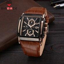 BADACE 2 шт./лот для мужчин s часы лучший бренд класса люкс кожаный ремешок повседневное часы квадратный Япония Movt для мужчин кварцевые часы Бизнес наручные часы