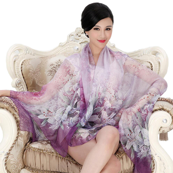 High quality mulberry natural real silk scarf for women