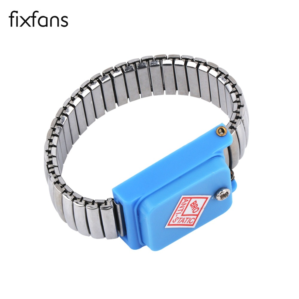 Bright Fixfans Anti Static Wristband Esd Wrist Strap Stainless Steel Band Metal Discharge For Electrician Ic Plcc Worker Tools