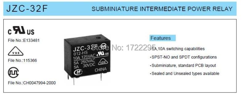 2-Бесплатная доставка 100 шт. HF32F-9V-ZS3 5 футов JZC-32F-009-ZS3 9 В 5A 250VAC/30VDC миниатюрное реле промежуточной мощности смотреть на Алиэкспресс Иркутск в рублях