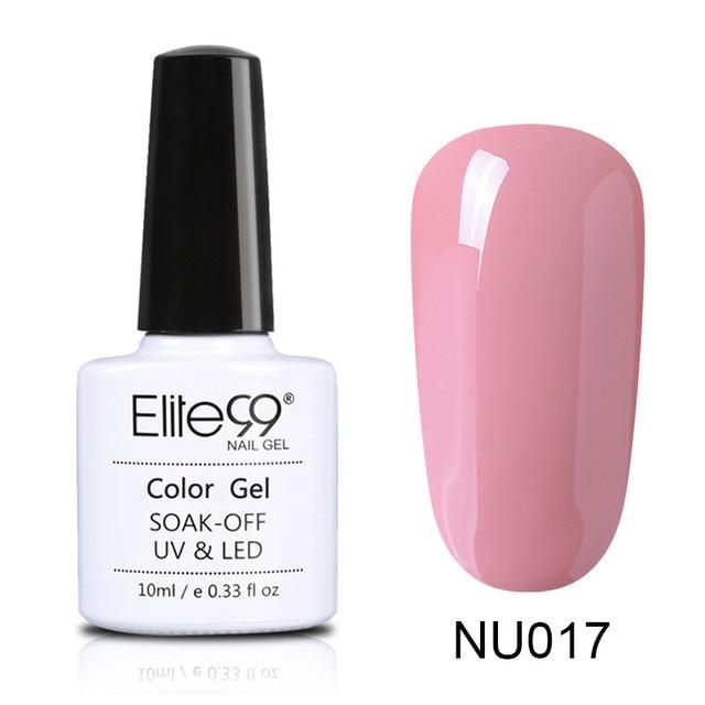 Elite99 10 ml Nude Farbe Gel Lack Tränken Weg Von Candy Farbe Emaille Gel Polish Nail art Design Maniküre UV Gel nagellack Lack