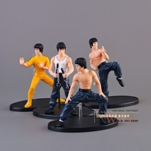 Free Shipping Set of 4 Kung Fu Master Bruce Lee Dolls Collectors Edition Action Figures OTFG071