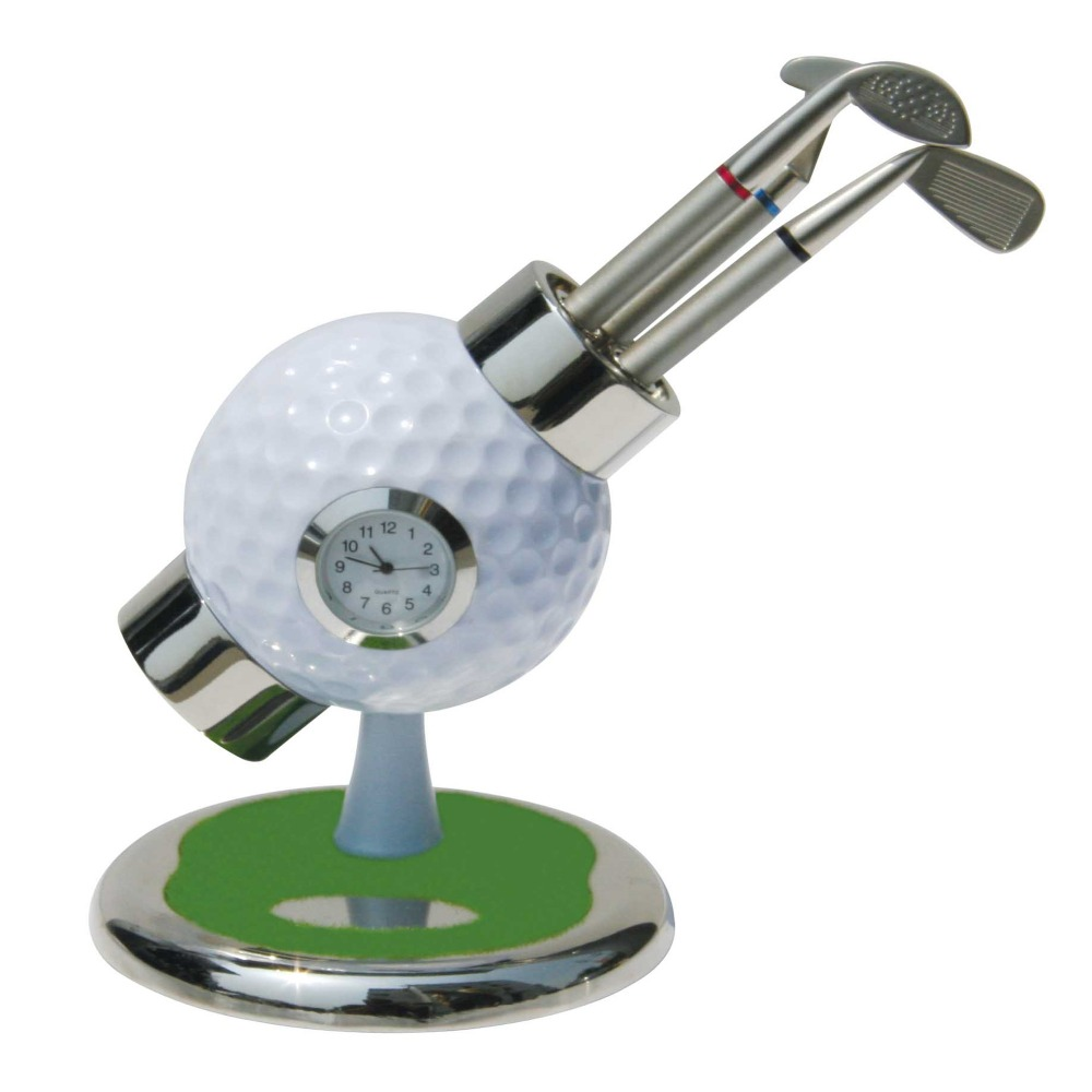 2sets Custom Mini Golf Pen Holder Gift Set with Watch