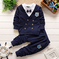 2016 nuevos niños del otoño conjunto de manga larga traje ropa de los muchachos fijó juegos de los muchachos de algodón Coreano