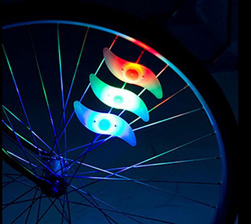 Bike light hot bicycle light colourful silicone bike spoke wheel light safe outdoor bicycle accessories with