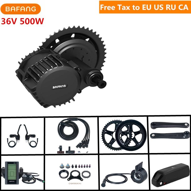 Bafang 8fun 36V 500W BBS02B Mid Drive Motor Kits Crank C965 C961 Eletric font b Bicycle